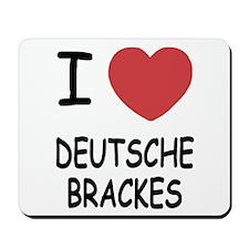I heart deutsche brackes Mousepad