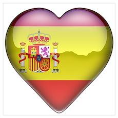 Spain Heart Poster