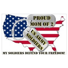 Proud Mom of 2 US Army Soldiers Framed Print