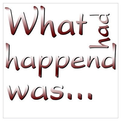 What Had Happened Was... Framed Print