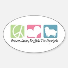 Peace, Love, English Toy Spaniels Decal