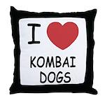 I heart kombai dogs Throw Pillow