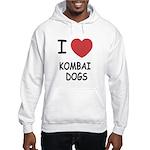 I heart kombai dogs Hooded Sweatshirt
