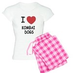 I heart kombai dogs Women's Light Pajamas