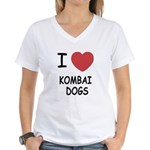 I heart kombai dogs Women's V-Neck T-Shirt