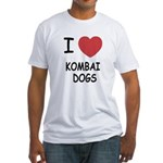 I heart kombai dogs Fitted T-Shirt