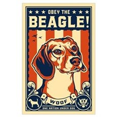 Obey the Beagle! American Poster