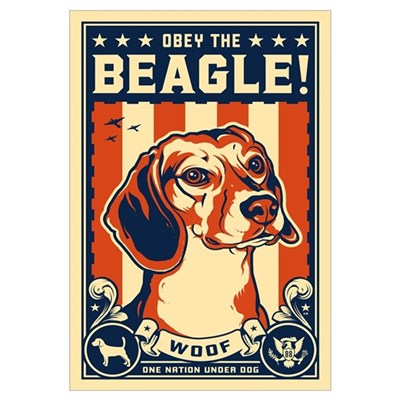 Obey the Beagle! American Canvas Art