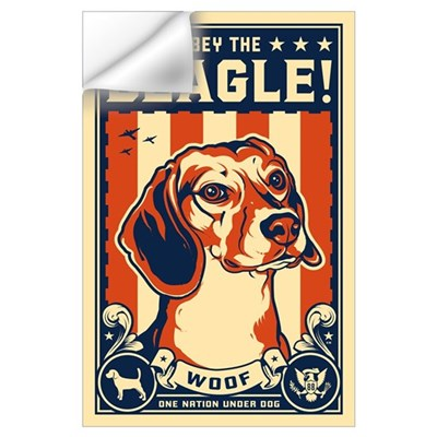 Obey the Beagle! American Wall Decal