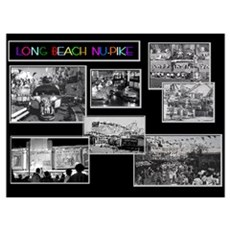 Long Beach Pike Collage Poster