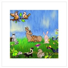 Animal Kingdom filled with Lo Framed Print