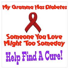 Gramma has diabetes Poster