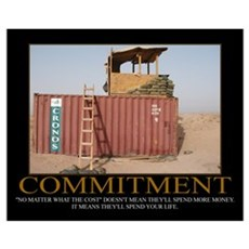 Commitment Motivational Framed Print