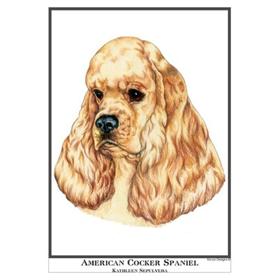 American Cocker Spaniel Por Canvas Art
