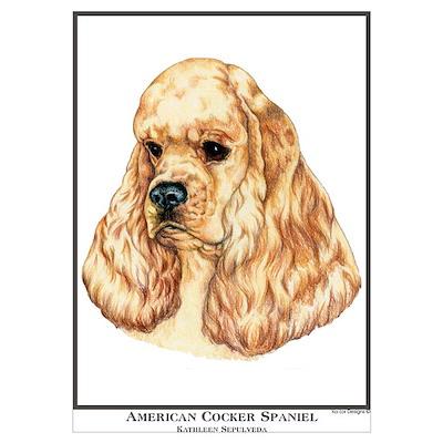 American Cocker Spaniel Por Poster