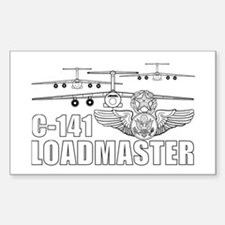 C-141 Loadmaster Sticker (Rectangle)