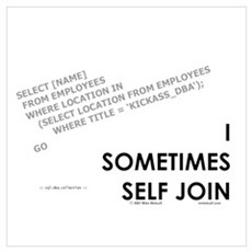 query - self joins Poster