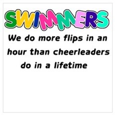 Swimmers & Cheerleaders Poster