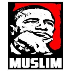 """Barack Obama: Muslim!"" Canvas Art"