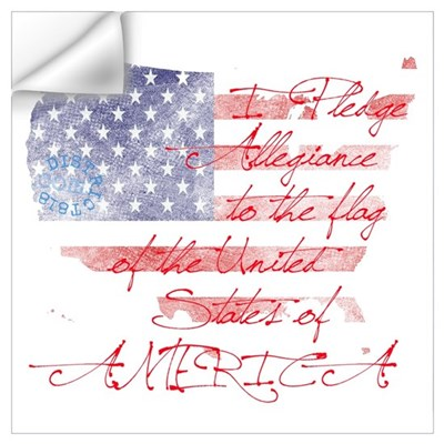 PLEDGE OF ALLEGIANCE Wall Decal