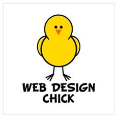 Web Design Chick Poster