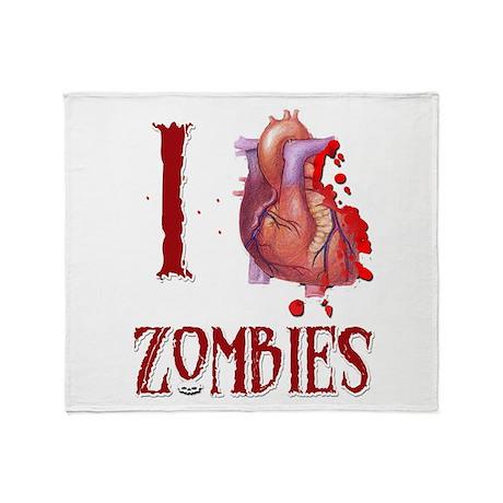 I *heart* Zombies Throw Blanket