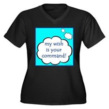 My Wish Is Your Command Women's Plus Size V-Neck D