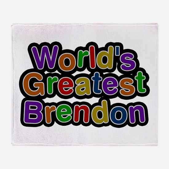 World's Greatest Brendon Throw Blanket