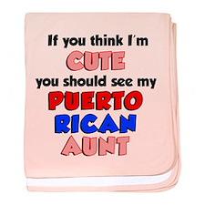 Cute Puerto Rican Aunt baby blanket