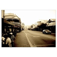 Fremantle Cafe Strip Framed Picture Framed Print