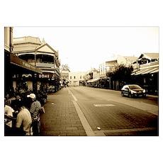 Fremantle Cafe Strip Framed Picture Poster