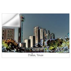 Dallas in Neon - Print Wall Decal