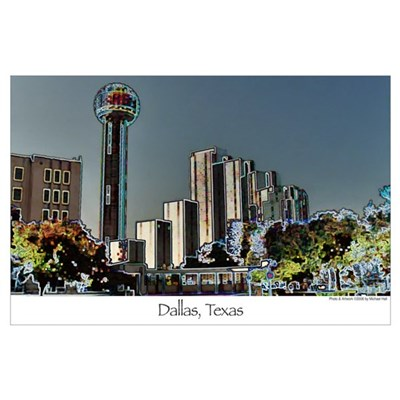 Dallas in Neon - Print Poster
