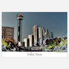 Dallas in Neon - Print