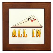 All In Texas hold 'em Framed Tile