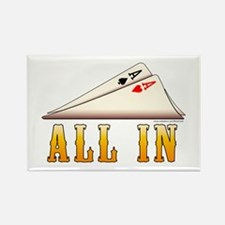 All In Texas hold 'em Rectangle Magnet
