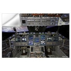 "Space Shuttle Cockpit 35"" x 23"" Wall Decal"