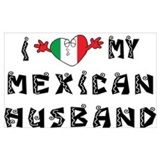 I Love My Mexican Husband Framed Print