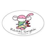 Rocket Surgeon Oval Sticker