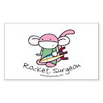Rocket Surgeon Rectangle Sticker