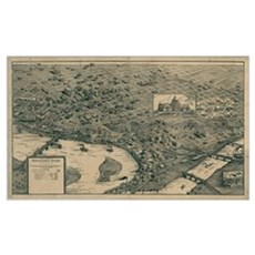 Kansas City Map reproduction Poster