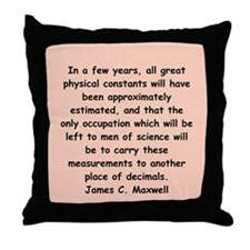 james c maxwell Throw Pillow
