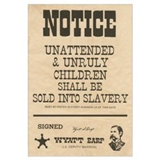 Unattended & Unrully Children Print Framed Print