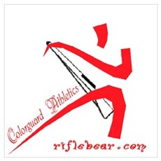 Colorguard Athletics Rifle Poster
