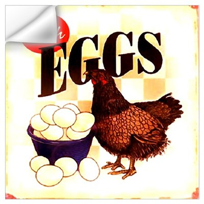 Eggs Ad Wall Decal