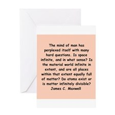 james c maxwell Greeting Card
