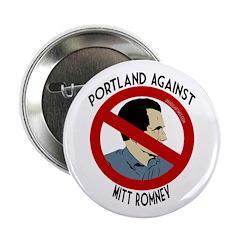 Portland Against Mitt Romney button