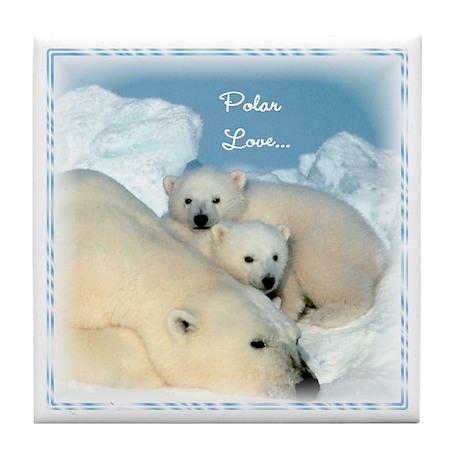 Polar Love :: Tile Coaster