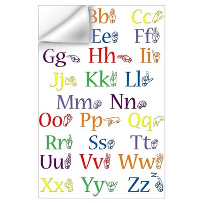 ASL Alphabet Wall Decal