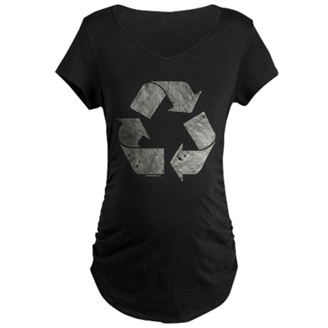 Recycling Sign Gray Maternity Dark T-Shirt